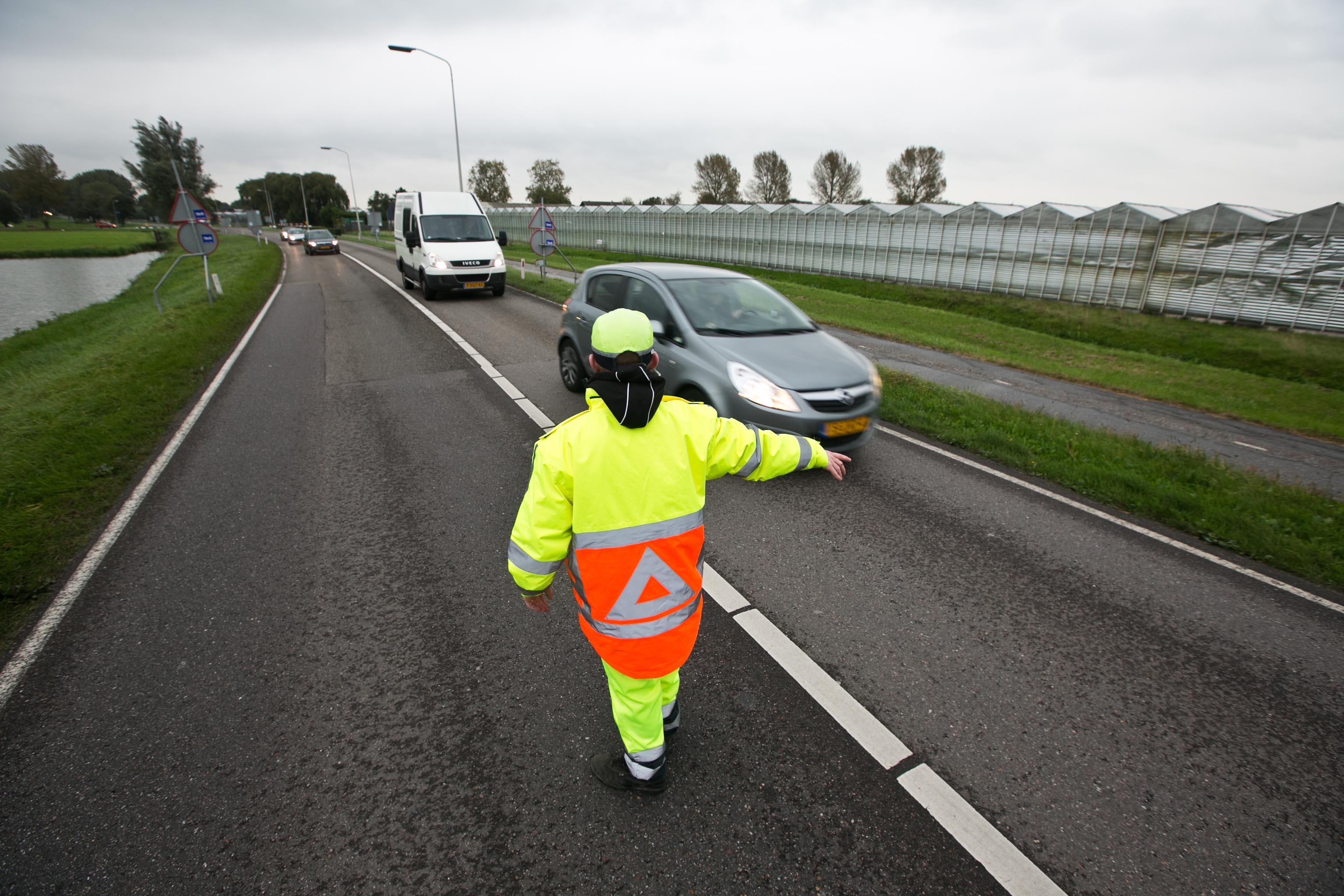 Verkeersregelaars in actie